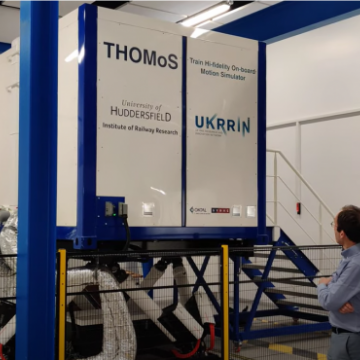 A brief tour of the UKRRIN 'THOMoS' Train motion simulator